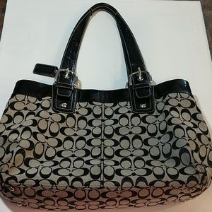COACH Soho Optic Signature Tote Bag